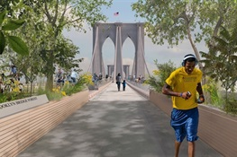 """Brooklyn Bridge Forest"" is a Finalist in Contest to Re-imagine the Iconic Brooklyn Bridge (English and Spanish)"