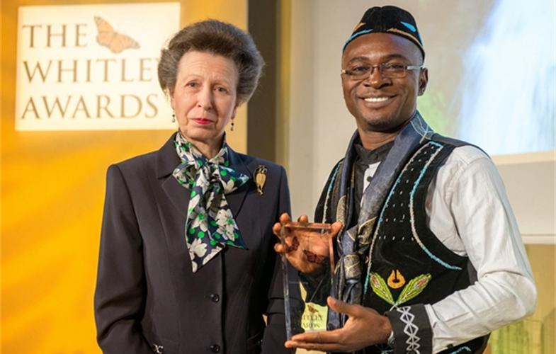 Whitley Award-HRH Princess Anne and WCS Inaoyom Imong