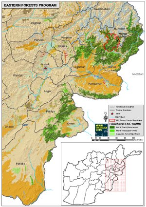 Map of Eastern Forests Program